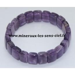 Bracelet Plaquette Améthyste