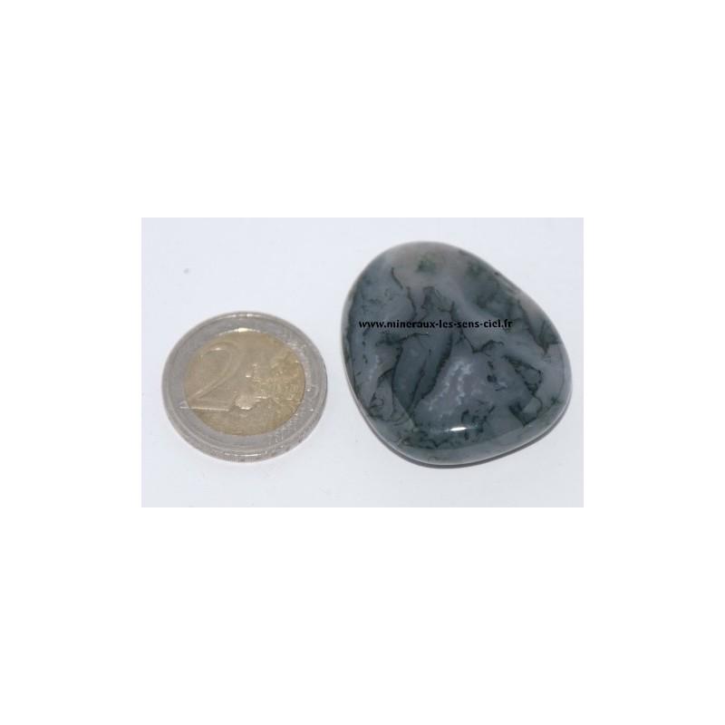 Agate Mousse galet pierre roulée