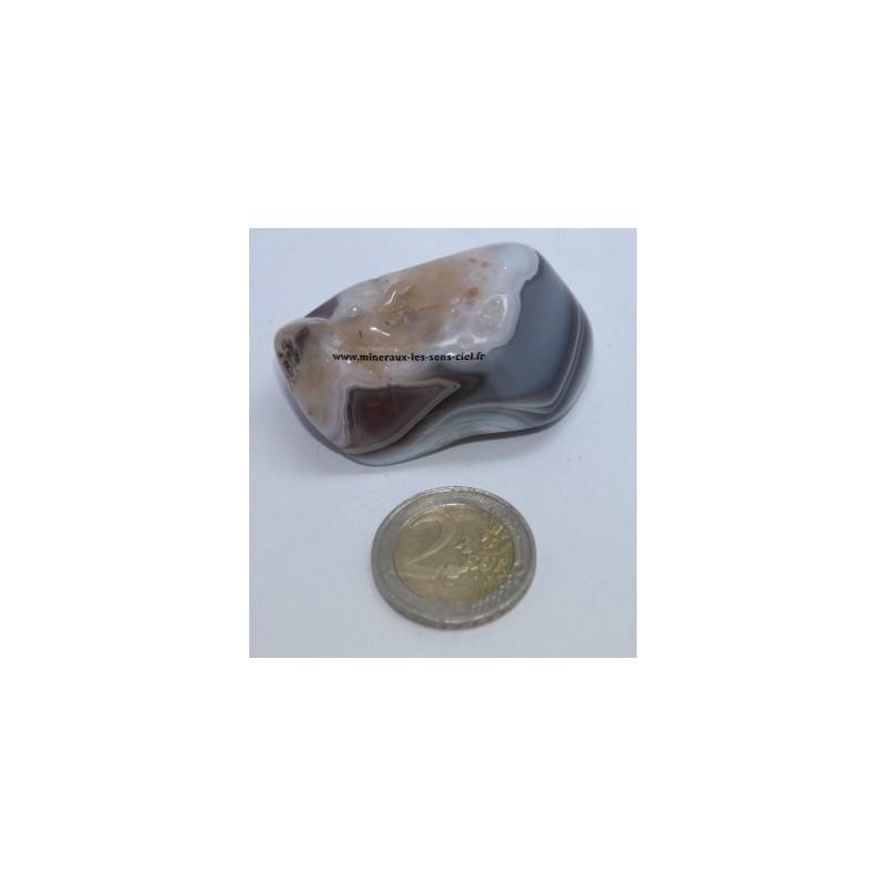 Agate de Botswana galet pierre roulée 58gr