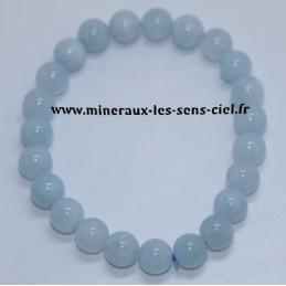Bracelet Boules 8mm Aigue Marine