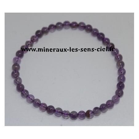 Bracelet Boules 4mm Améthyste