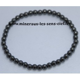 Bracelet Boules 4mm Hématite