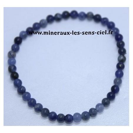 Bracelet Boules 4mm Sodalite