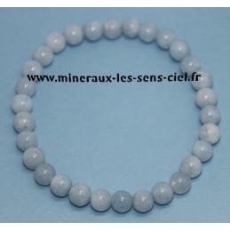 Bracelet Boules 6 mm Aigue Marine
