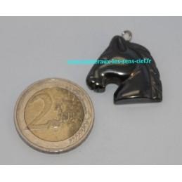 Pendentif Cheval Hématite