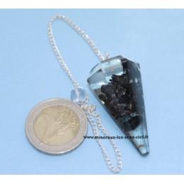 Pendule Cone Orgonite pierre Shungite