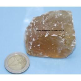Calcite miel pierre brute