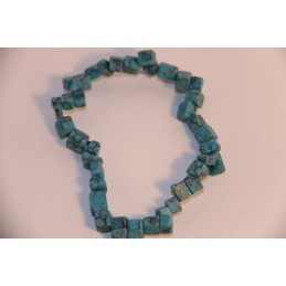 bracelet baroque turquoise reconstitué