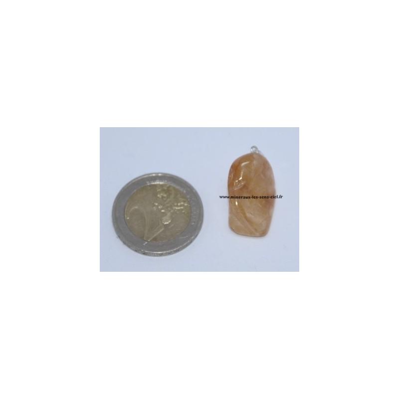 Pendentif Quartz à inclusions d'Hématite