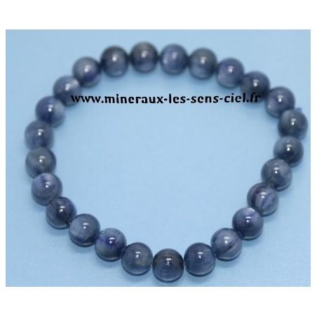 Bracelet Boules 8mm Disthene Cyanite