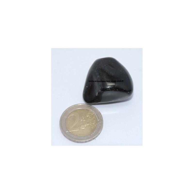 Agate Noire pierre roulée