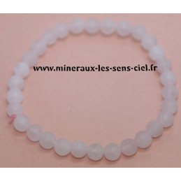 Bracelet Boules 6mm Quartz Rose