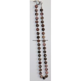 Collier Boules 8mm Rhodonite