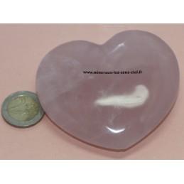 Coeur en Quartz Rose 150/160gr