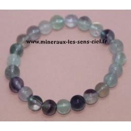 Bracelet Boules Fluorite 8mn