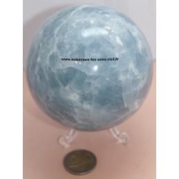 Sphère Calcite bleue 1,2kg - Diamètre 92mm