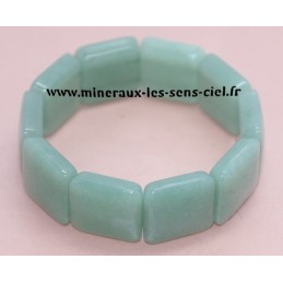 Bracelet Large Plaquette Aventurine Verte