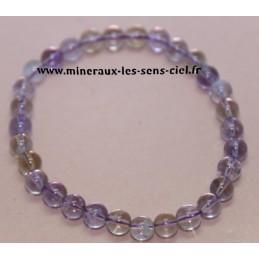 Bracelet Boules 8mn Amétrine