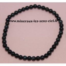Bracelet Boules 4mm Obsidienne Oeil Céleste