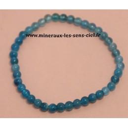 Bracelet Boules 4mm Apatite Bleue
