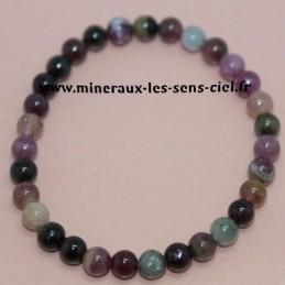 Bracelet Boules 6mm Tourmaline Multicolore