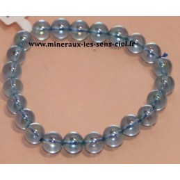 Bracelet Boules 8mm Aqua Aura