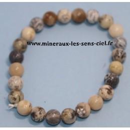 Bracelet Boules 8mm Merlinite (Opale Dendritique)