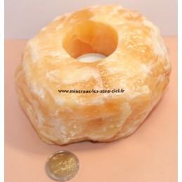 Bougeoir Calcite Orange 1,420KG