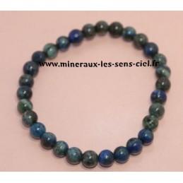 bracelet Boules 6mn Azurite Malachite