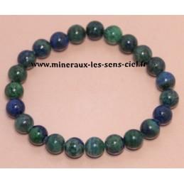 Bracelet Boules 8mn Azurite Malachite