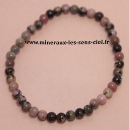 Bracelet Boules 4mm Rhodonite