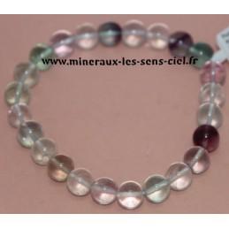 Bracelet Boules 8mm Fluorite
