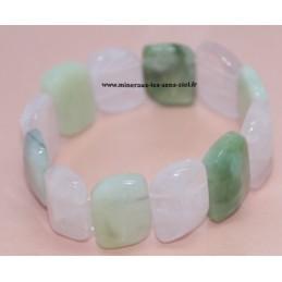 Bracelet Large Jade - Quartz Rose - Serpentine