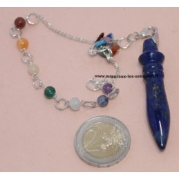 Pendule Mini Thot Lapis Lazuli - Chaïen 7 chakras