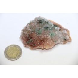 Dolomite et Chalcopyrite pierre brute