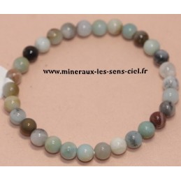 Bracelet Boules 6mm Amazonite