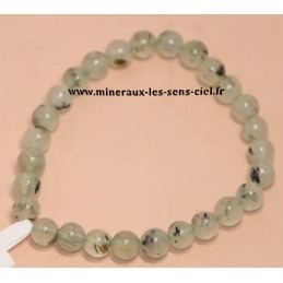 Bracelet boules 6mm pierre Prehnite