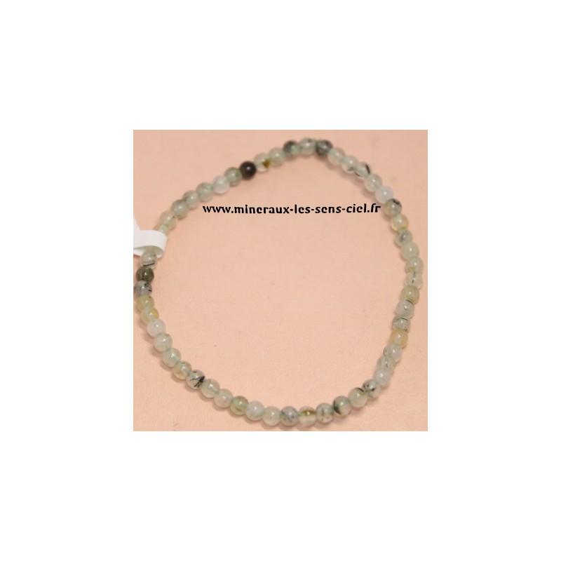 bracelet boules 4mm préhnite