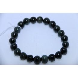 Bracelet Boules 8mm Obsidienne Oeil Céleste