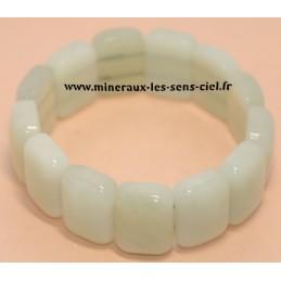 Bracelet Plaquette large pierre de Jade