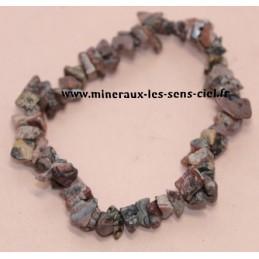 Bracelet Baroque pierre Jaspe Leopard