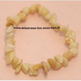 Bracelet baroque pierre jade jaune