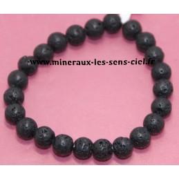 Bracelet Boules 8mm pierre de lave