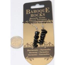 Boucle d'Oreille pendant pierre baroque Tourmaline