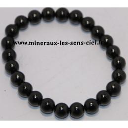 Bracelet Boule 8mm pierre Shungite