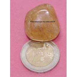 Quartz Hématoïde  jaune pierre roulée