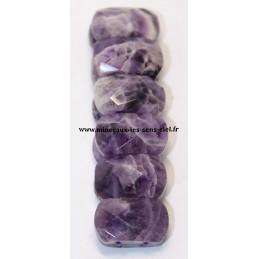 Bracelet plaquette facetter pierre Améthyste
