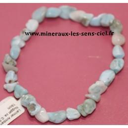 Bracelet nuggets pierre Larimar