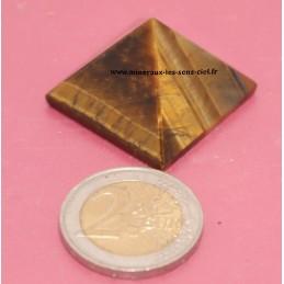 Pyramide en pierre Oeil de Tigre