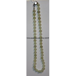 Collier boules 8mm pierre serpentine 45cm